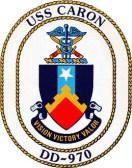 USS Caron escudo