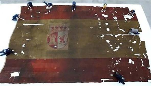 Bandera de combate del San Idelfonso
