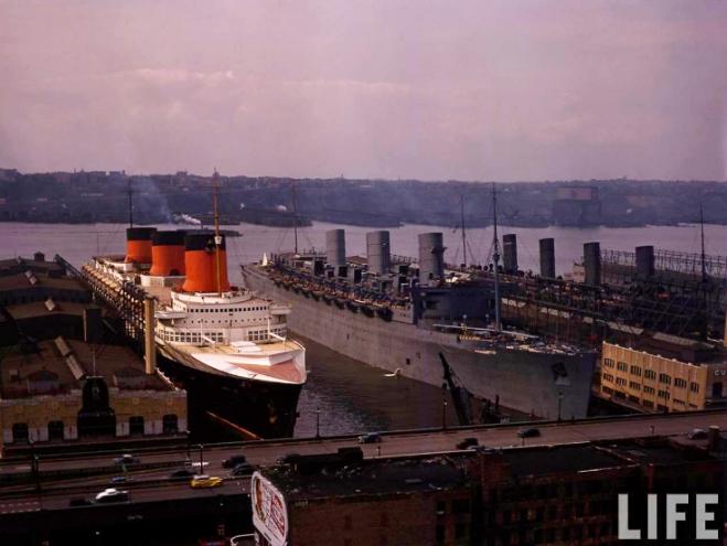 Normandie_Queen_Mary_Aquitania 1939 NY