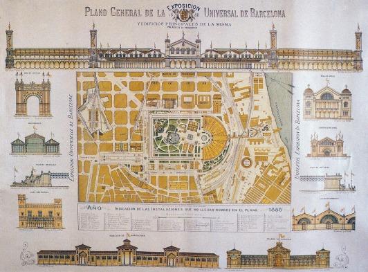 Plano Exposicion Barcelona 1888