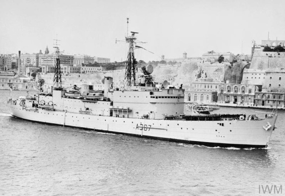 GUIDED WEAPONS TRIAL SHIP HOMEWARD BOUND. DECEMBER 1961, MALTA.