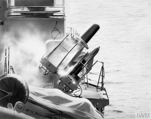 SEACAT TRIALS. FEBRUARY 1961, ON BOARD THE DESTROYER HMS DECOY,