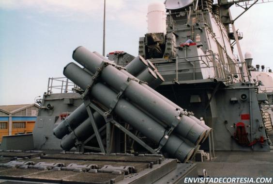 USS Mitscher DDG-57 Mk 141 Harpoon