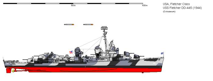 DD-445 Fletcher 1944