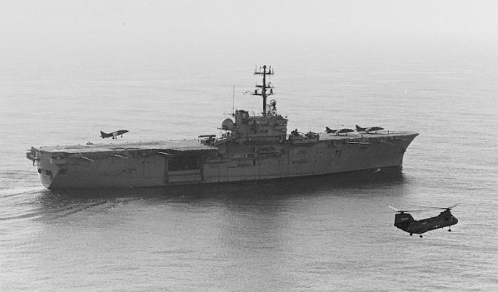 USS Guam - Harrier
