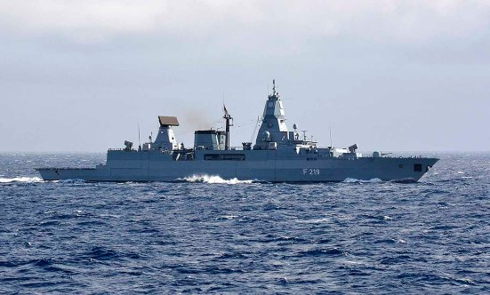 German frigate SACHSEN_firing exercise