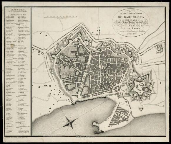 Plano Barcelona 1807 - MDE
