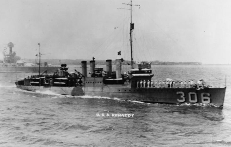 USS Kennedy DD-306 - NHC