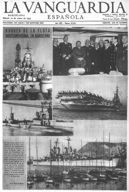 Portada La Vanguardia 10-01-1953