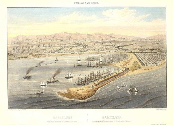 Puerto de Barcelona - 1856