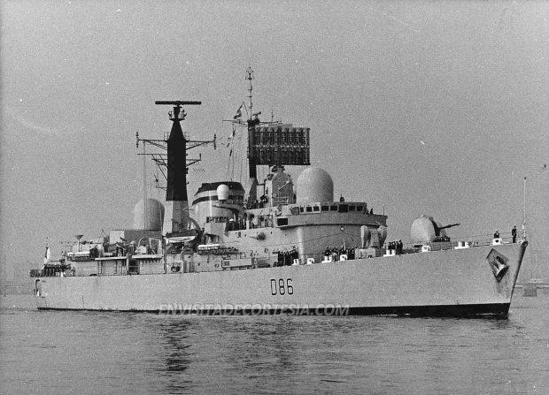 HMS Birmingham D86 - JMF - 09-03-1981