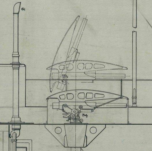 USS M-1 - cañon retractil - NARA