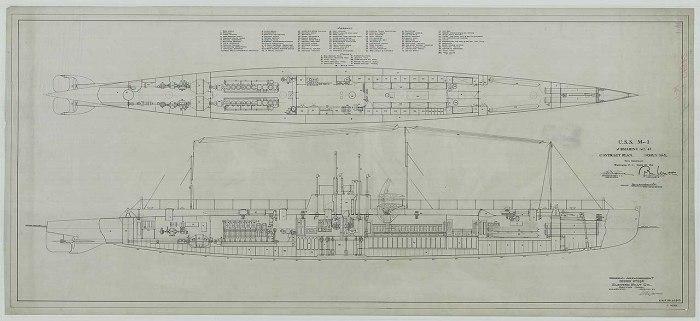 USS M-1 - plano 1 - NARA