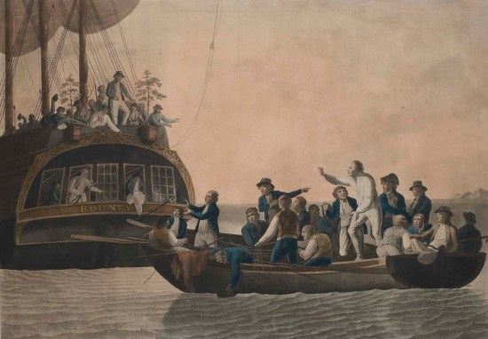 PAH9205; The Mutineers turning Lieut. Bligh and part of the officers and crew adrift from His Majesty's ship, The Bounty